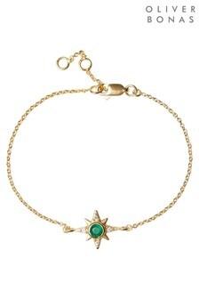 Oliver Bonas Galaxy Star Charm Gold Plated Bracelet