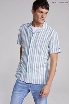 Tommy Hilfiger Green Waffle Short Sleeve Shirt