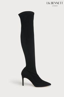 L.K.Bennett Blake Stretch Suede Knee Boots