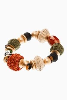 Multicolour Beaded Stretch Bracelet