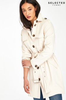 Selected Femme Stone Tilly Belted Jacket
