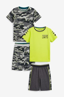 Green 2 Pack Camo Shorts (3-16yrs)