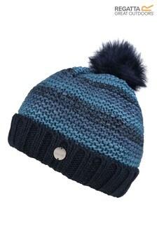 Regatta Blue Frosty IV Pom Pom Hat