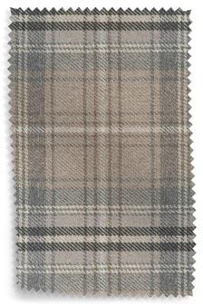 Kildare Grey Tweedy Check Fabric By The Roll