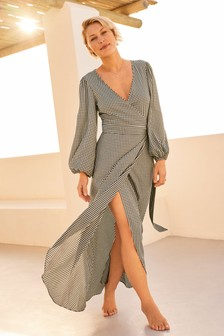 Gingham Emma Willis Wrap Dress