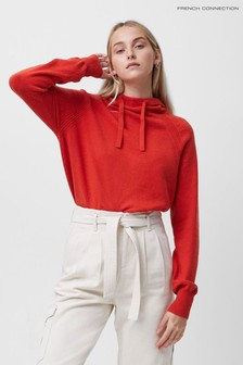 French Connection Red Lina Vhari Hoody