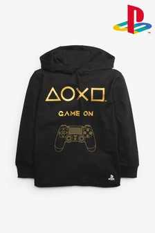 Black PlayStation™ Hooded T-Shirt (3-16yrs)