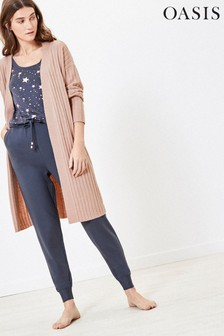 Oasis Pink Knitted Longline Cardigan
