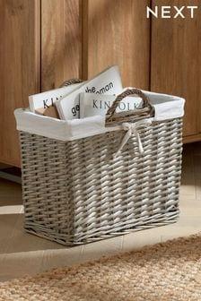 Wicker Magazine Storage Basket