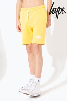 Hype. Yellow Script Kids Shorts