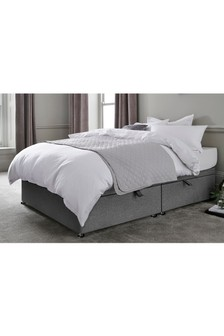 Simple Contemporary Charcoal Ottoman Storage Divan
