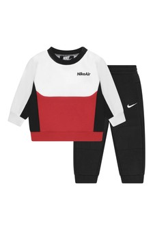 Baby Boys Black Tricot Tracksuit