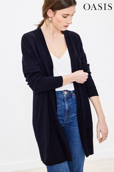 Oasis Blue Open Front Cardigan