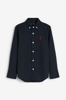 Navy Long Sleeve Oxford Shirt (3-16yrs)