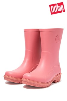 FitFlop Pink Wonderwelly Short Wellington Boots