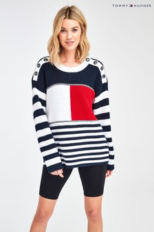 Tommy Hilfiger Blue Icon Kenya Longline Sweater