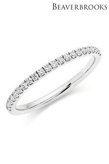 Beaverbrooks 18ct White Gold Diamond Ladies Ring