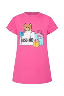 فستان قطن ورديللبناتالبيبي منMoschino