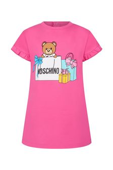 Moschino Baby Girls Pink Cotton Dress