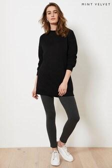 Mint Velvet Dark Grey Straight Leggings