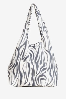 Zebra Print Fold Away Shopper Bag