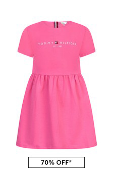 Tommy Hilfiger Baby Girls Pink Cotton Dress