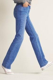 Bright Blue Boot Cut Jeans