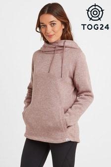 Tog 24 Womens Pink Acer Knit Look Fleece Hoody