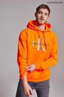 Calvin Klein Jeans Orange Monogram Hoodie