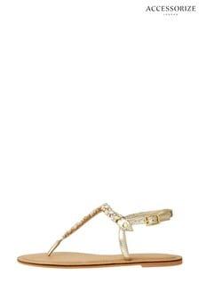 Accessorize Penny Gem And Diamanté Sandals