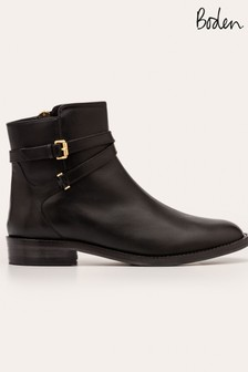 Boden Black Aldeburgh Ankle Boots