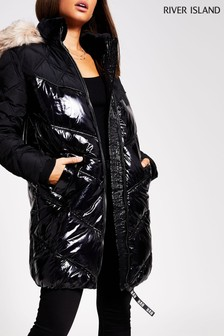 River Island Black Chubby Padded Jacket