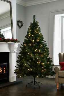 6ft Pre Lit Forest Pine Christmas Tree