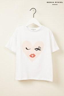 Sonia Rykiel White Heart T-Shirt