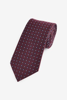 Burgundy Spot Regular Pattern Tie