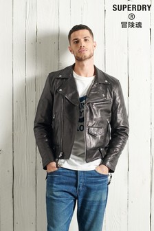 Superdry Limited Edition Dry Leather Biker Jacket