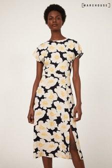 Warehouse Nicky Floral Midi Dress