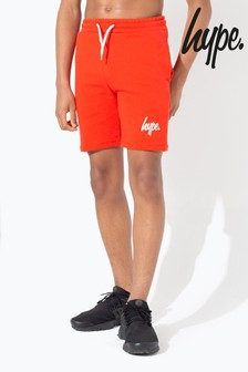 Hype. Red Script Kids Shorts