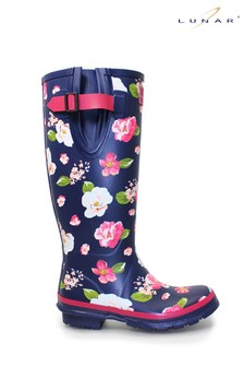 Lunar Floral Patterned Rubber Wellington Boots