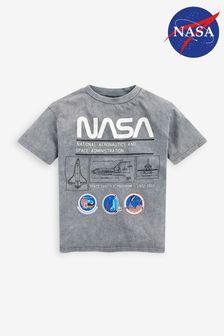 Grey Licensed Oversized Nasa T-Shirt (3-16yrs)