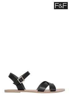 F&F Black Strappy Sandals