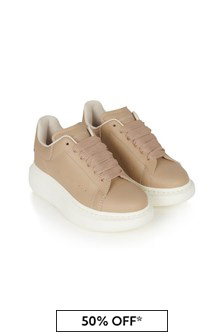 حذاء رياضي جلد100% ورديللجنسين منAlexander McQueen