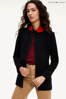Tommy Hilfiger Black Fluid Twill Blazer