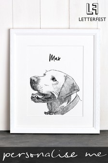 Personalised Pet Dog Framed Print by Letterfest