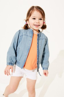 Denim Mid Blue TENCEL™ Bomber Jacket (3mths-7yrs)