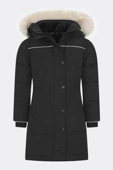 Girls Youth Juniper Black Parka Coat