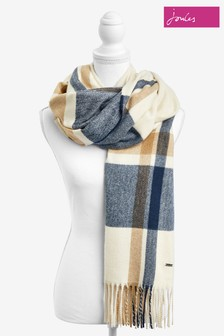 Joules Cream Farah New Check Scarf