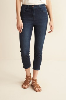 Inky Blue Skinny Cropped Jeans