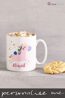 Personalised Unicorn Mug by Loveabode