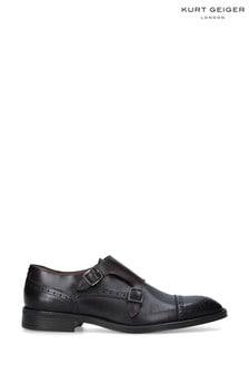 Kurt Geiger London Brown Raphael Monk Shoes